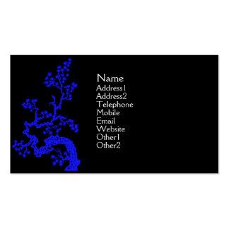 Tarjeta del perfil del diseño del chino - azul plantillas de tarjetas de visita