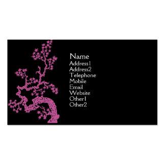 Tarjeta del perfil del diseño del chino - rosa plantillas de tarjeta de negocio