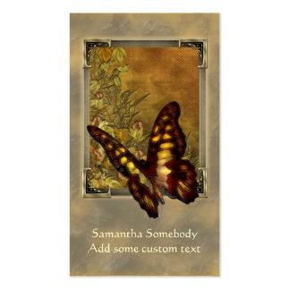 Tarjeta del perfil del ejemplo de la mariposa del  tarjetas de negocios