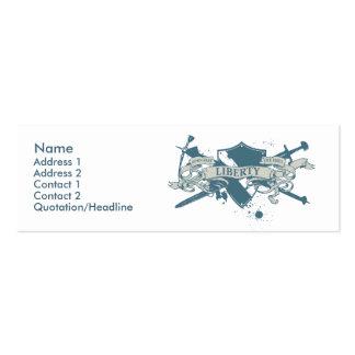 Tarjeta del perfil del escudo de la diosa tarjetas de visita mini