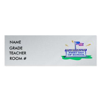 Tarjeta del perfil del estudiante tarjetas de visita mini
