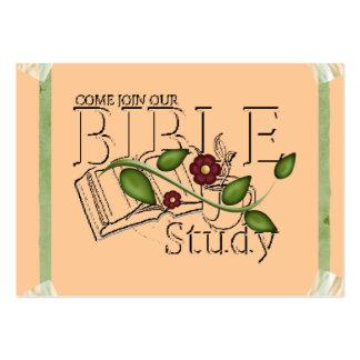 Tarjeta del perfil del estudio de la biblia tarjetas de visita grandes