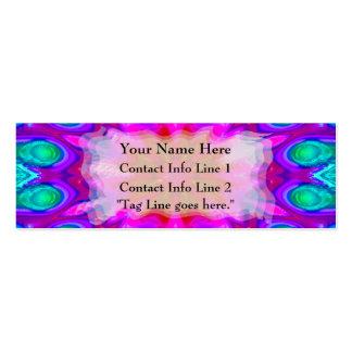 Tarjeta del perfil del extracto de la floración de tarjeta de visita