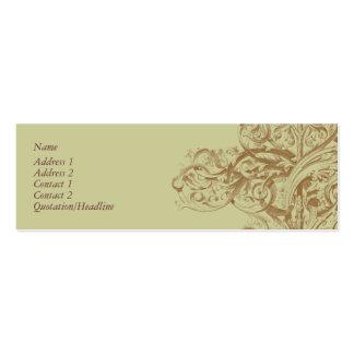 Tarjeta del perfil del Flourish Tarjetas De Visita Mini