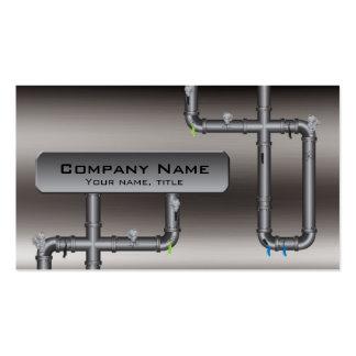 Tarjeta del perfil del fontanero del diseño de la  plantillas de tarjetas personales