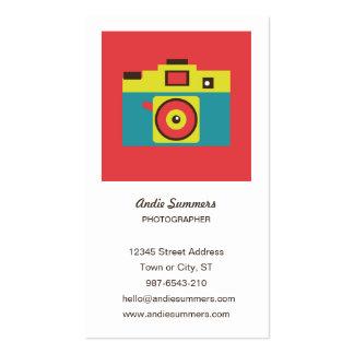 Tarjeta del perfil del fotógrafo de la cámara del  plantillas de tarjetas personales