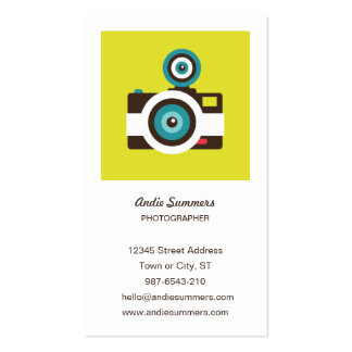 Tarjeta del perfil del fotógrafo de la cámara del  plantillas de tarjeta de negocio