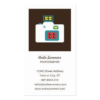 Tarjeta del perfil del fotógrafo de la cámara del  tarjeta de visita
