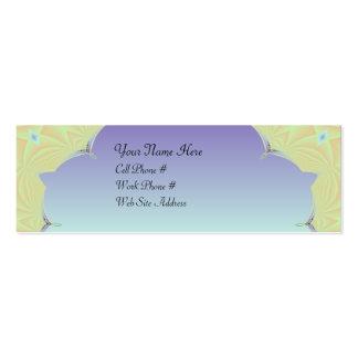 Tarjeta del perfil del fractal 00001 tarjetas de visita mini