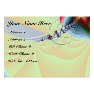 Tarjeta del perfil del fractal 002 tarjetas de visita grandes