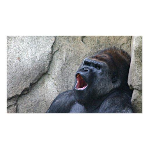 Tarjeta del perfil del gorila del canto plantillas de tarjetas personales