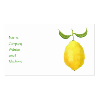 Tarjeta del perfil del limón tarjetas de visita