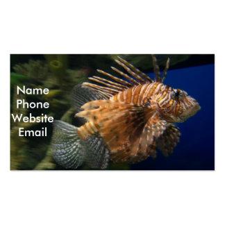 Tarjeta del perfil del Lionfish Tarjeta De Visita