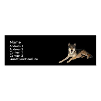 Tarjeta del perfil del lobo plantilla de tarjeta de negocio