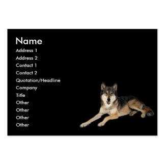 Tarjeta del perfil del lobo tarjetas de visita