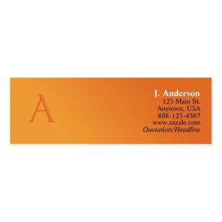 Tarjeta del perfil del monograma (a) tarjetas de visita mini