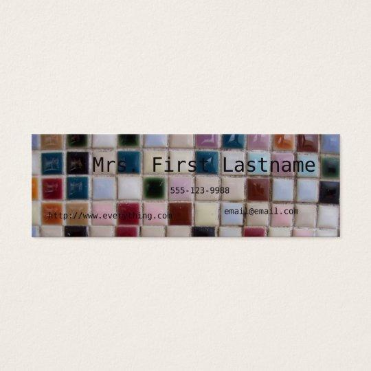 Tarjeta del perfil del mosaico tarjetas de visita mini