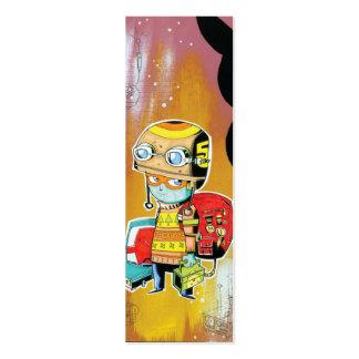 Tarjeta del perfil del muchacho del casco tarjetas de visita mini