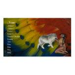 Tarjeta del perfil del nativo americano tarjetas de negocios
