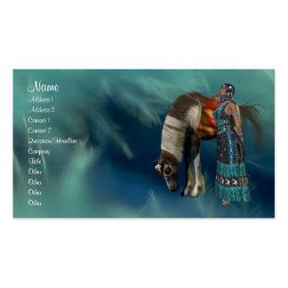 Tarjeta del perfil del nativo americano plantillas de tarjeta de negocio