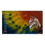 Tarjeta del perfil del nativo americano tarjeta personal