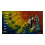 Tarjeta del perfil del nativo americano tarjetas personales