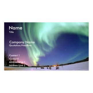 Tarjeta del perfil del negocio de la aurora boreal tarjetas de visita