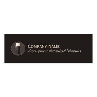 Tarjeta del perfil del negocio de la cerveza mini tarjetas de visita mini