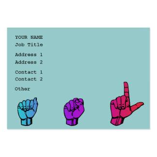 Tarjeta del perfil del negocio del ASL Plantilla De Tarjeta Personal