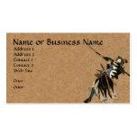 Tarjeta del perfil del negocio del guerrero del sa tarjeta de visita