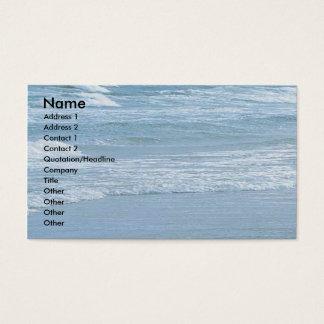 Tarjeta del perfil del negocio del océano tarjetas de visita