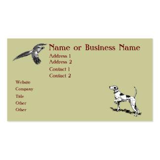 Tarjeta del perfil del negocio del perro y del tarjetas de visita