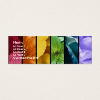 Tarjeta del perfil del orgullo del arco iris tarjetas de visita mini
