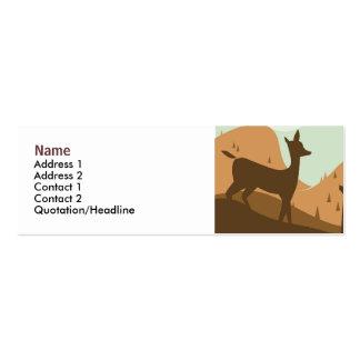 Tarjeta del perfil del paisaje del otoño tarjetas de visita mini