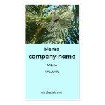 Tarjeta del perfil del pájaro de la fauna tarjetas de visita