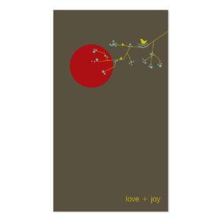 tarjeta del perfil del pájaro y de la familia 03 tarjetas de visita