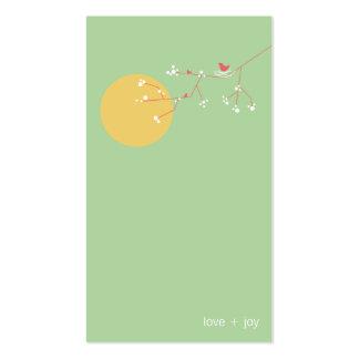 tarjeta del perfil del pájaro y de la familia 05 tarjetas de visita