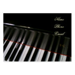 Tarjeta del perfil del piano de Leslie Harlow Plantillas De Tarjetas Personales