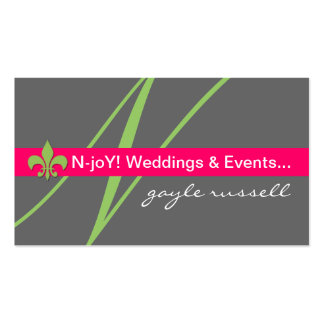 Tarjeta del perfil del planificador de eventos de  tarjeta de visita