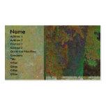 Tarjeta del perfil del resplandor del árbol de alm plantilla de tarjeta personal