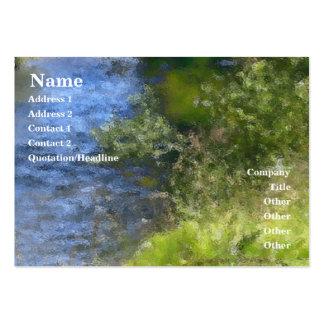 Tarjeta del perfil del río del rezo de la serenida tarjeta personal
