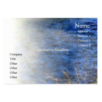 Tarjeta del perfil del río del rezo de la serenida tarjetas de visita