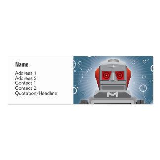 Tarjeta del perfil del robot y de la nave espacial tarjetas de visita mini