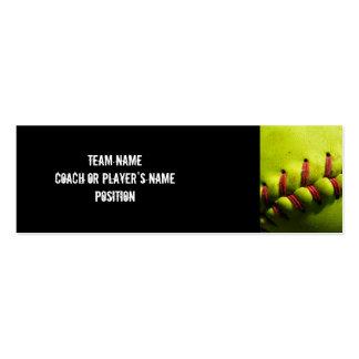 Tarjeta del perfil del softball de Fastpitch Tarjetas De Visita Mini