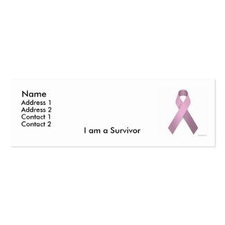 Tarjeta del perfil del superviviente plantilla de tarjeta personal
