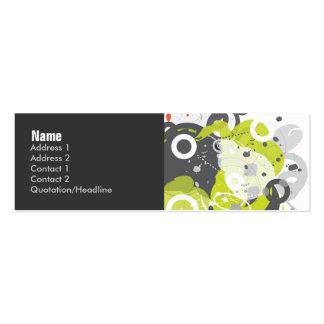 Tarjeta del perfil del trasto tarjetas de visita mini