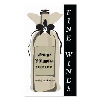 Tarjeta del perfil del vino fino plantillas de tarjeta de negocio