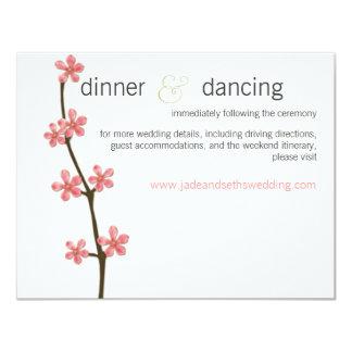 """tarjeta del perfil del Web site del boda de la Invitación 4.25"""" X 5.5"""""""