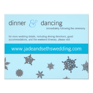 "tarjeta del perfil del Web site del boda del copo Invitación 4.25"" X 5.5"""