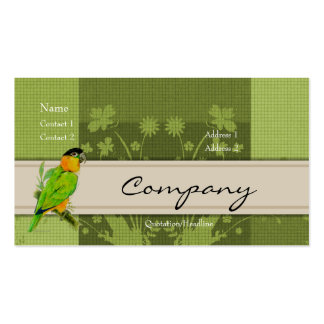 Tarjeta del perfil - loro del caique tarjetas de visita
